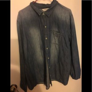 Old Navy Faded Chambray Shirt Size XXL